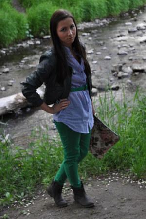 Stradivarius boots - Zara jeans - Zara jacket - Oggi shirt - Stradivarius bag -