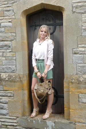 Miss Selfridge shorts - new look blazer - Topshop bag - thrifted top
