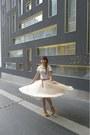 Beige-mesh-skirt-h-m-skirt-white-flea-market-t-shirt-red-skinny-vincci-belt