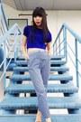Navy-knit-love-bonito-blouse-navy-prints-topshop-pants