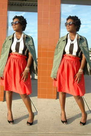 H&M jacket - Forever 21 shirt - H&M skirt - Kenneth Cole pumps