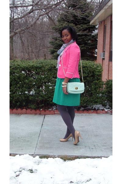 green Target dress - bubble gum Target blazer - unknown scarf