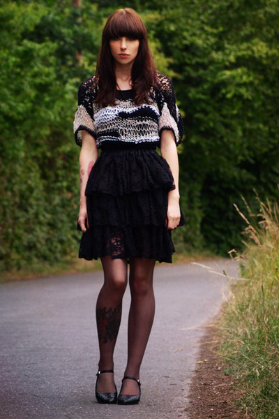 handmade skirt - handmade top - vagabond shoes - H&amp;M tights