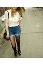 Beige-american-apparel-t-shirt-blue-h-m-shorts-black-american-apparel-tights