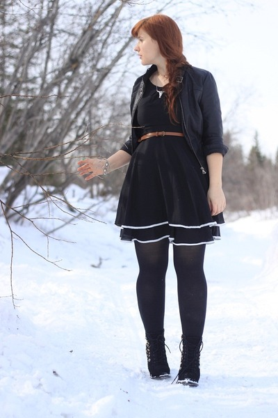 Bongo jacket - seychelles boots - dress - Icing necklace