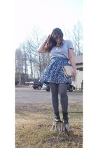Old Navy skirt - Madden Girl boots - Ann Taylor thrifted shirt