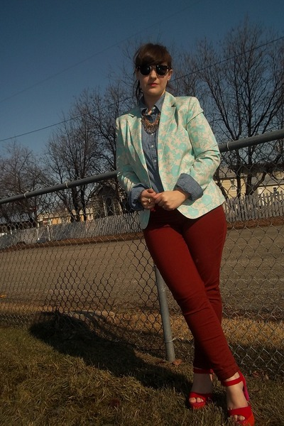 Thrifted Blazers Old Navy Jeans Lands End Blouses Madden Girl