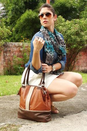 Stradivarius bag - Stradivarius shirt - Stradivarius scarf