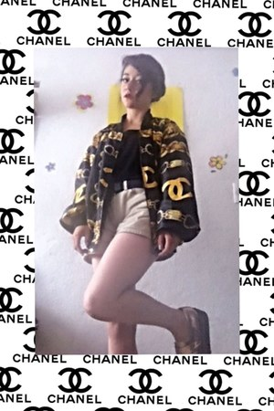 black Chanel jacket