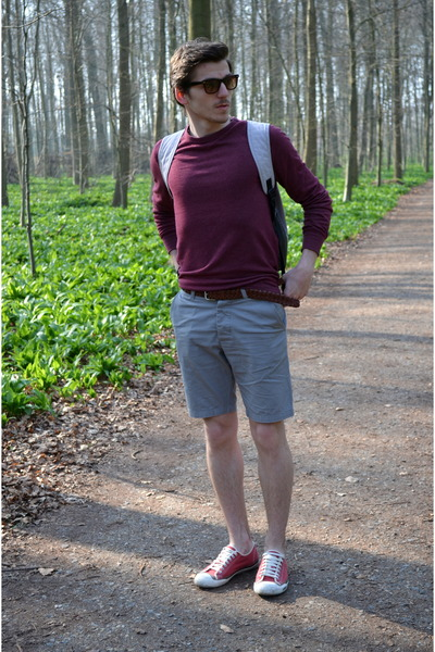 H&M sweater - calvin klein shoes - Adidas bag - H&M bracelet - H&M pants
