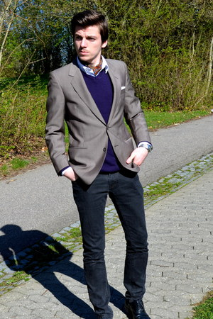 Angelo Litrico sweater - Jack&Jones blazer - H&M shirt - Zara pants