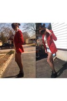 ruby red Together blazer - black Rampage boots - tan H&M sunglasses