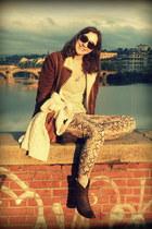 bologna boots - aviator reserved jacket - Mango sweater - Ray Ban sunglasses
