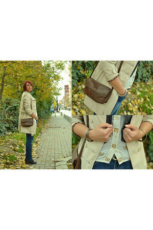 vintage shirt - boyfriend jeans jeans - leather vintage bag - vintage vest