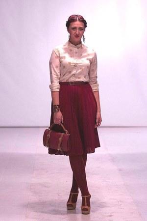 cotton vintage shirt - pull&bear leggings - faux leather bag