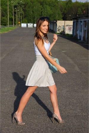 beige Zara skirt