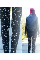 black NY leggings - ruby red no name hat