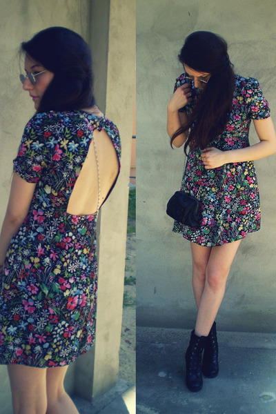 Top Shop dress - vintage bag
