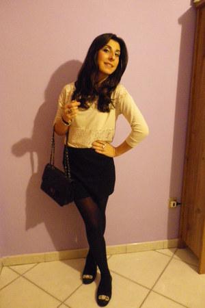 Stradivarius blouse - BLANCO skirt - Zara flats