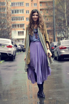 light purple chiffon OASAP skirt