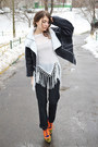 Black-faux-leather-dresslily-jacket-white-tassel-zaful-top