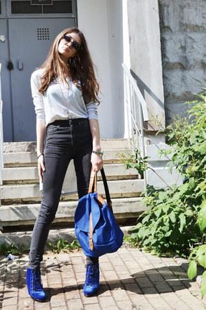 blue DressLink bag - heather gray DressLink sunglasses - silver DressLink top