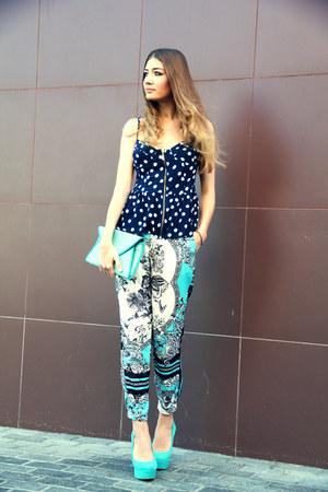 turquoise blue Jessica Simpson heels