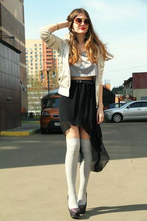 silver Zara socks