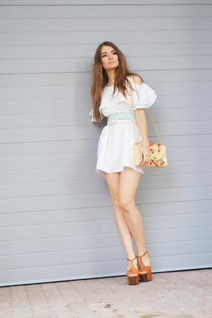 white OASAP dress