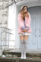 light pink faux fur Light in the box coat