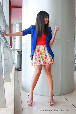 What A Girl Wants blazer - What A Girl Wants skirt - cotton on top