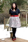 Gray-old-navy-shirt-red-target-belt-white-forever21-skirt-black-penneys-ti