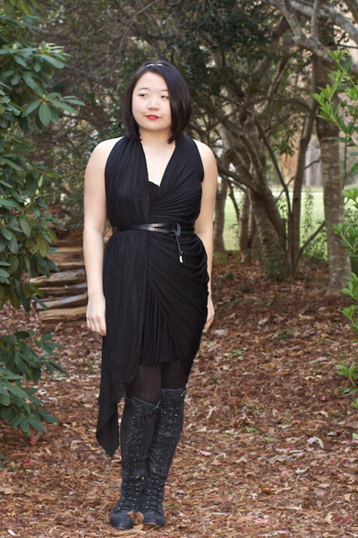 Jeffrey Campbell boots - Alexander Wang dress - Loft belt
