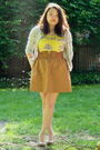 Yellow-anthropologie-shirt-brown-charlotte-russe-belt-brown-j-crew-skirt-b