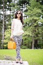 dvf jeans - LV bag - Bottega Veneta pumps - tory burch top