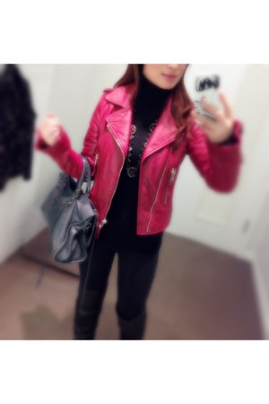 balenciaga jacket - Marc by Marc Jacobs boots - JCrew sweater