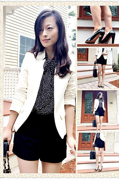 leather Chanel bag - cotton Zara blazer - wool Rachel Zoe shorts