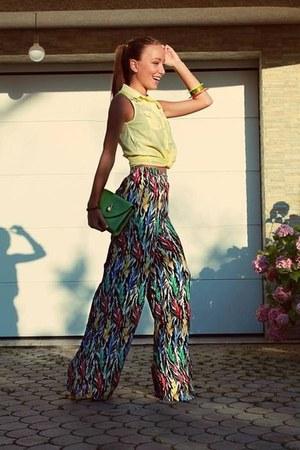 green Ralph Lauren bag - green Chanel bag