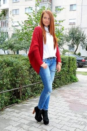 Zara cardigan - Bershka shirt