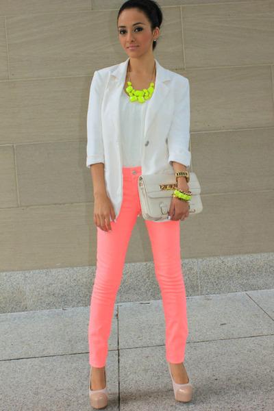 Neon White Shirt