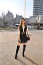 Black-tigh-high-ccc-boots-white-zara-shirt-light-brown-dorothy-perkins-skirt