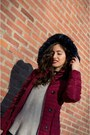 Black-zara-jeans-brick-red-cato-jacket-beige-pull-bear-sweater