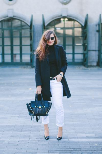 COS coat - Zara jeans - 31 Phillip Lim bag - Bottega Veneta pumps