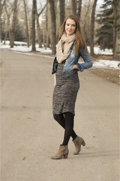 Light Brown Ankle Boots Boots Charcoal Gray Midi Dresses