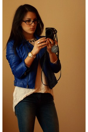 c&a jacket - P&B jeans - Guess glasses - Zara blouse - MORGAN watch