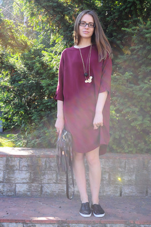 crimson Ellos dress