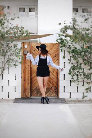 periwinkle Tobi blouse - black hm romper