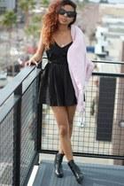 black lace Tobi romper - black ankle boots H&M boots