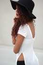 Black-ankle-boots-qupid-boots-black-wide-brim-calico-hat