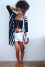 White-old-navy-shorts-black-love-culture-cardigan-black-bandeau-bra